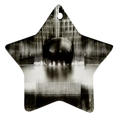 Black And White Hdr Spreebogen Star Ornament (two Sides)