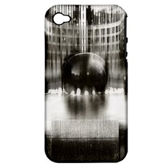 Black And White Hdr Spreebogen Apple Iphone 4/4s Hardshell Case (pc+silicone)