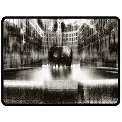 Black And White Hdr Spreebogen Double Sided Fleece Blanket (large)