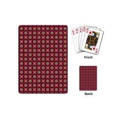 Kaleidoscope Seamless Pattern Playing Cards (mini)