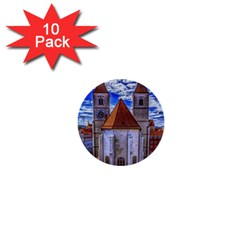 Steeple Church Building Sky Great 1  Mini Buttons (10 Pack)