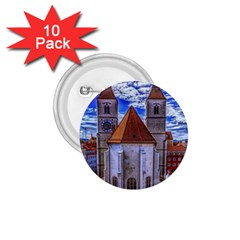 Steeple Church Building Sky Great 1 75  Buttons (10 Pack)