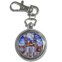 Steeple Church Building Sky Great Key Chain Watches