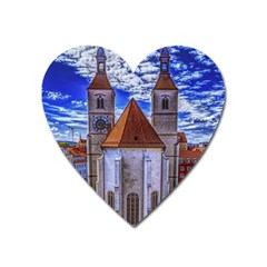 Steeple Church Building Sky Great Heart Magnet