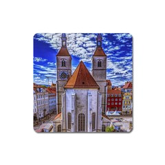 Steeple Church Building Sky Great Square Magnet