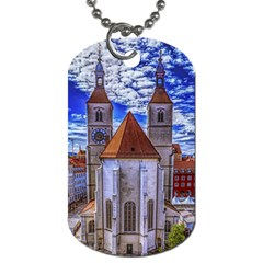 Steeple Church Building Sky Great Dog Tag (two Sides)