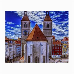 Steeple Church Building Sky Great Small Glasses Cloth