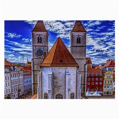 Steeple Church Building Sky Great Large Glasses Cloth