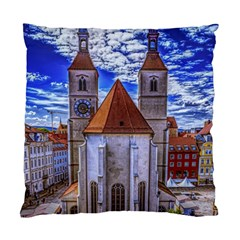 Steeple Church Building Sky Great Standard Cushion Case (two Sides)
