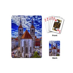 Steeple Church Building Sky Great Playing Cards (mini)