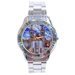 Steeple Church Building Sky Great Stainless Steel Analogue Watch