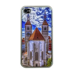 Steeple Church Building Sky Great Apple Iphone 4 Case (clear)