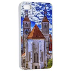 Steeple Church Building Sky Great Apple Iphone 4/4s Seamless Case (white)