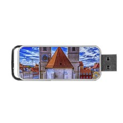 Steeple Church Building Sky Great Portable Usb Flash (one Side)