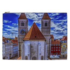 Steeple Church Building Sky Great Cosmetic Bag (xxl)