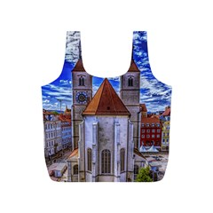 Steeple Church Building Sky Great Full Print Recycle Bags (s)