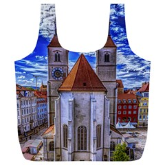 Steeple Church Building Sky Great Full Print Recycle Bags (l)