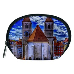 Steeple Church Building Sky Great Accessory Pouches (medium)