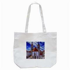 Steeple Church Building Sky Great Tote Bag (white)