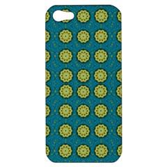 Sunshine Mandalas On Blue Apple Iphone 5 Hardshell Case