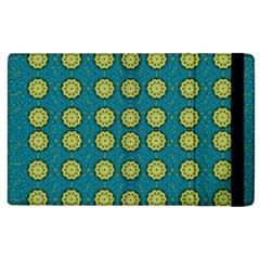 Sunshine Mandalas On Blue Apple Ipad 2 Flip Case