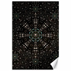 Pearl Stars On A Wonderful Sky Of Star Constellations Canvas 12  X 18