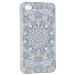 Flower Lace In Decorative Style Apple Iphone 4/4s Seamless Case (white)