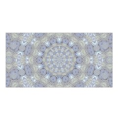 Flower Lace In Decorative Style Satin Shawl