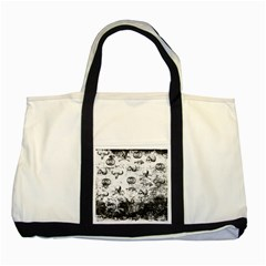 Vintage Halloween Pattern Two Tone Tote Bag