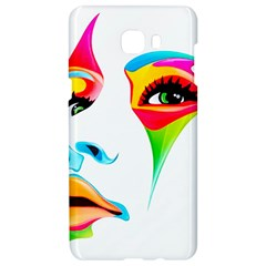 Colourful Art Face Samsung C9 Pro Hardshell Case