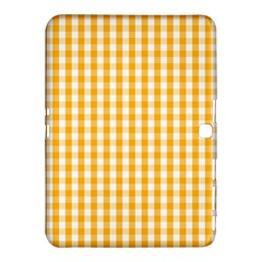 Pale Pumpkin Orange And White Halloween Gingham Check Samsung Galaxy Tab 4 (10 1 ) Hardshell Case