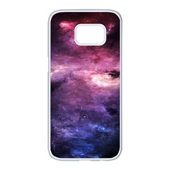 Space Time Two Samsung Galaxy S7 Edge White Seamless Case