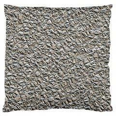 Jagged Stone Silver Large Flano Cushion Case (two Sides)