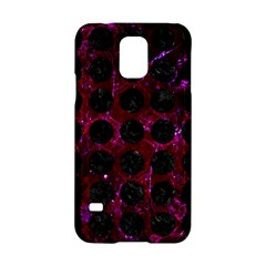 Circles1 Black Marble & Burgundy Marble (r) Samsung Galaxy S5 Hardshell Case
