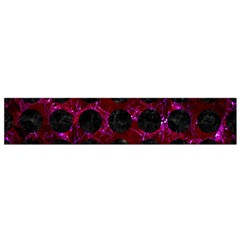 Circles1 Black Marble & Burgundy Marble (r) Flano Scarf (small)