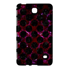 Circles2 Black Marble & Burgundy Marble (r) Samsung Galaxy Tab 4 (7 ) Hardshell Case