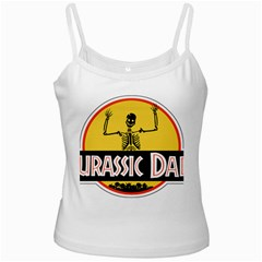 Jurassic Dad Dinosaur Skeleton Funny Birthday Gift Ladies Camisoles