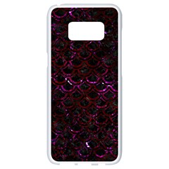 Scales2 Black Marble & Burgundy Marble Samsung Galaxy S8 White Seamless Case