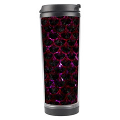 Scales3 Black Marble & Burgundy Marble Travel Tumbler