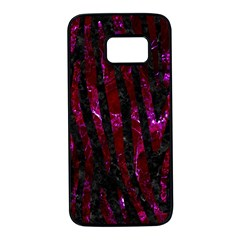 Skin4 Black Marble & Burgundy Marble (r) Samsung Galaxy S7 Black Seamless Case