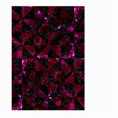 Triangle1 Black Marble & Burgundy Marble Large Garden Flag (two Sides)