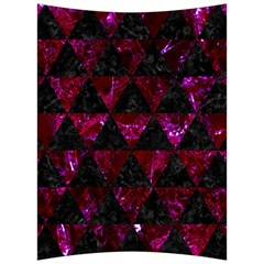 Triangle3 Black Marble & Burgundy Marble Back Support Cushion