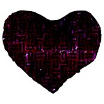 WOVEN1 BLACK MARBLE & BURGUNDY MARBLE (R) Large 19  Premium Heart Shape Cushions Front