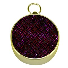 Woven2 Black Marble & Burgundy Marble Gold Compasses
