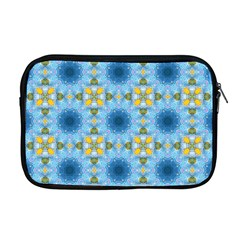 Blue Nice Daisy Flower Ang Yellow Squares Apple Macbook Pro 17  Zipper Case