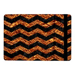 Chevron3 Black Marble & Copper Foil Samsung Galaxy Tab Pro 10 1  Flip Case