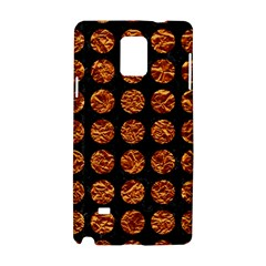 Circles1 Black Marble & Copper Foil Samsung Galaxy Note 4 Hardshell Case