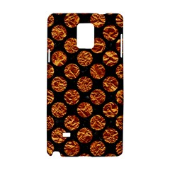 Circles2 Black Marble & Copper Foil Samsung Galaxy Note 4 Hardshell Case