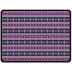 Fancy Tribal Border Pattern 17c Double Sided Fleece Blanket (large)