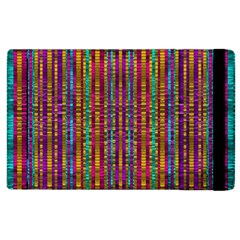 Star Fall In  Retro Peacock Colors Apple Ipad 2 Flip Case